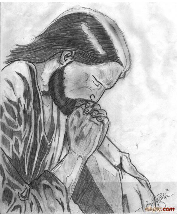 صور مرسومة بالرصاص لرب المجد يسوع